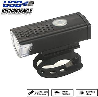 Mountain Bike Headlight, USB Bike Headlight, Ultra Bright Bicycle Flashlight, Waterproof Durable High Lumens Cycling Lamp, Double Lamp Bead, 3 Dimming Modes with Horn (Bike Headlight Black)