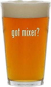 got mixer? - 16oz Clear Glass Beer Pint Glass