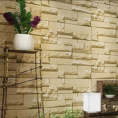 Wxl Imitation brick wallpaper 3d retro brick cafe TV background wallpaper brick
