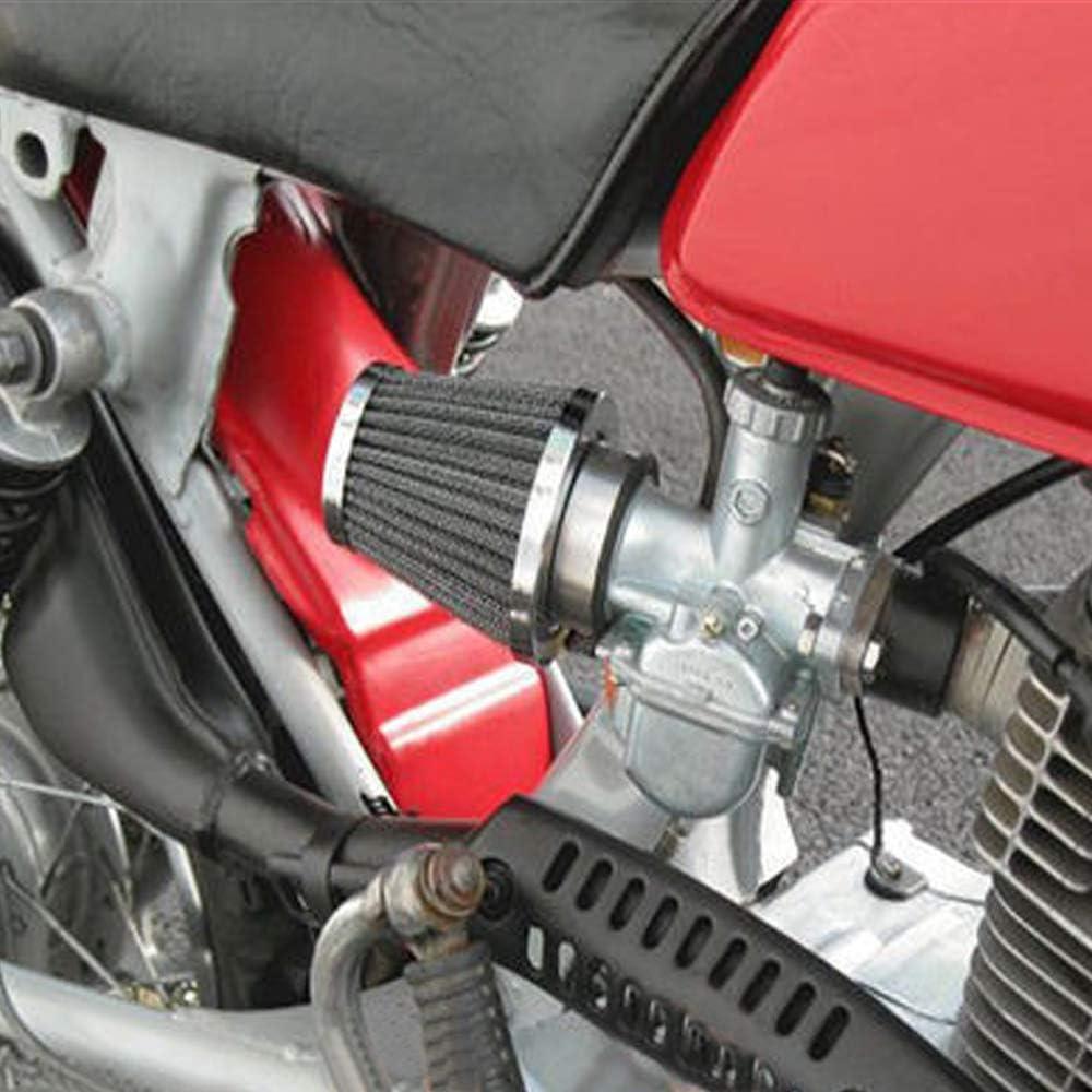 Mintice 60mm KFZ Auto Silber Motorrad Air Pod Intake Luftfilter Clamp Gummi Sportluftfilter Schwarz Dirt ATV