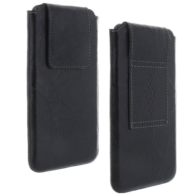 Echt Leder Gürtel universal Handytasche 4XL passend für Huawei Honor 7A 7X / 10 Lite/Samsung Galaxy M20 S9+ S10+ / Handy Tasc