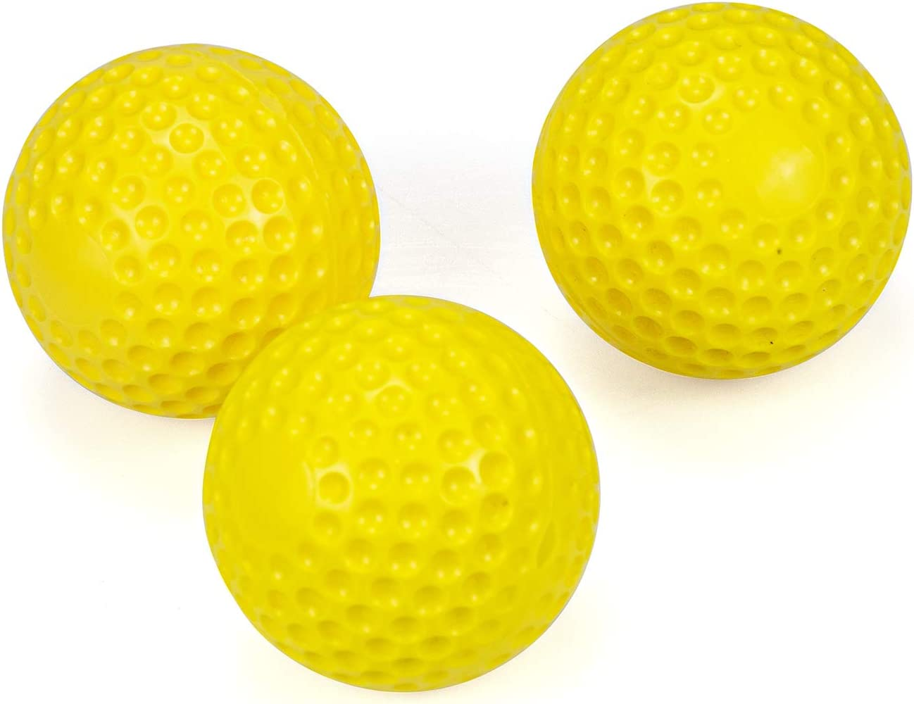 9 Inch Training Pitching Machine Baseballs 12 Pack Yellow Dimpled Practice Sport