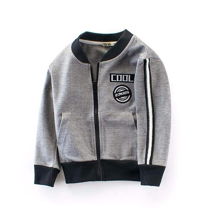 e38488973 Amazon.com: RongCun Kids Cotton Thin Jacket Outwear Toddler Baby ...
