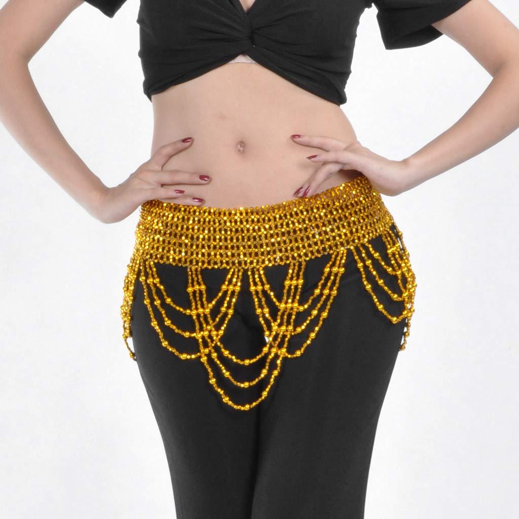Baoblaze Women Chain Rhinestone Waist Scarf Chain Belly Dance Chain