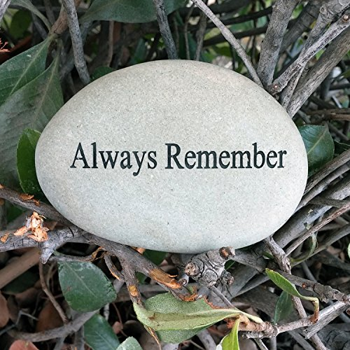 Always Remember Engraved Memorial Stone Quotes Stones Inspirational Sandblast Stone, Love Memories Stone, Perfect Gorgeous Unique Gift Ideas, Natural Beach Pebble Rock