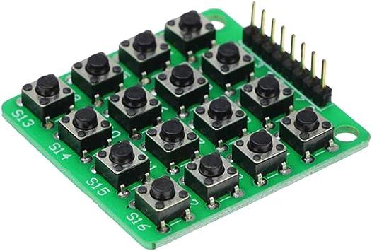 TOYANDONA 16 Teclado Teclado Módulo Microcontrolador de 16 ...