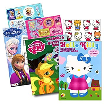 Coloring Books With Stickers Assortment Hello Kitty Book My Little Pony