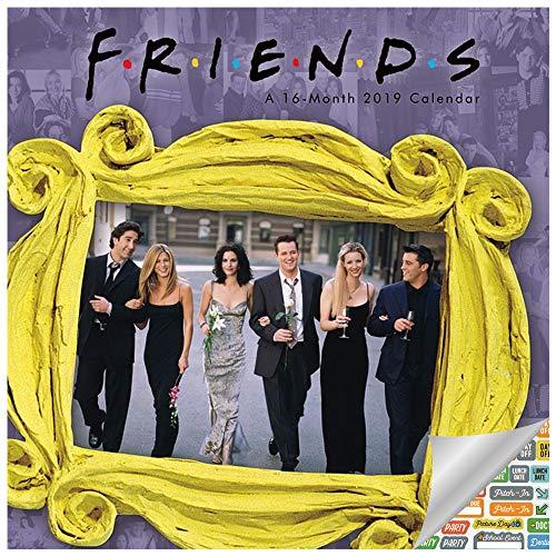 Friends Calendar 2019 Set - Deluxe 2019 Friends TV Show Wall Calendar with Over 100 Calendar Stickers (Friends TV Show Merchandise and Office Supplies) (Friends Calendar)