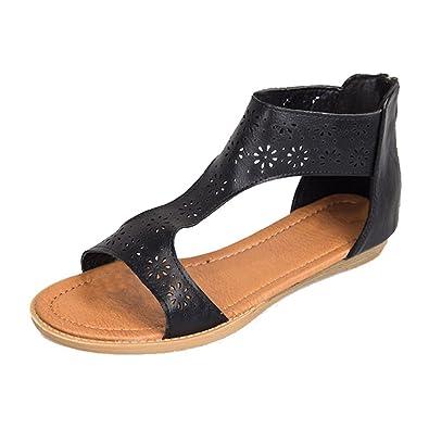 6231b94e3245 Juleya Flat Summer Sandals Women Gladiator Shoes - Fashion Peep Toe Roman  Sandals