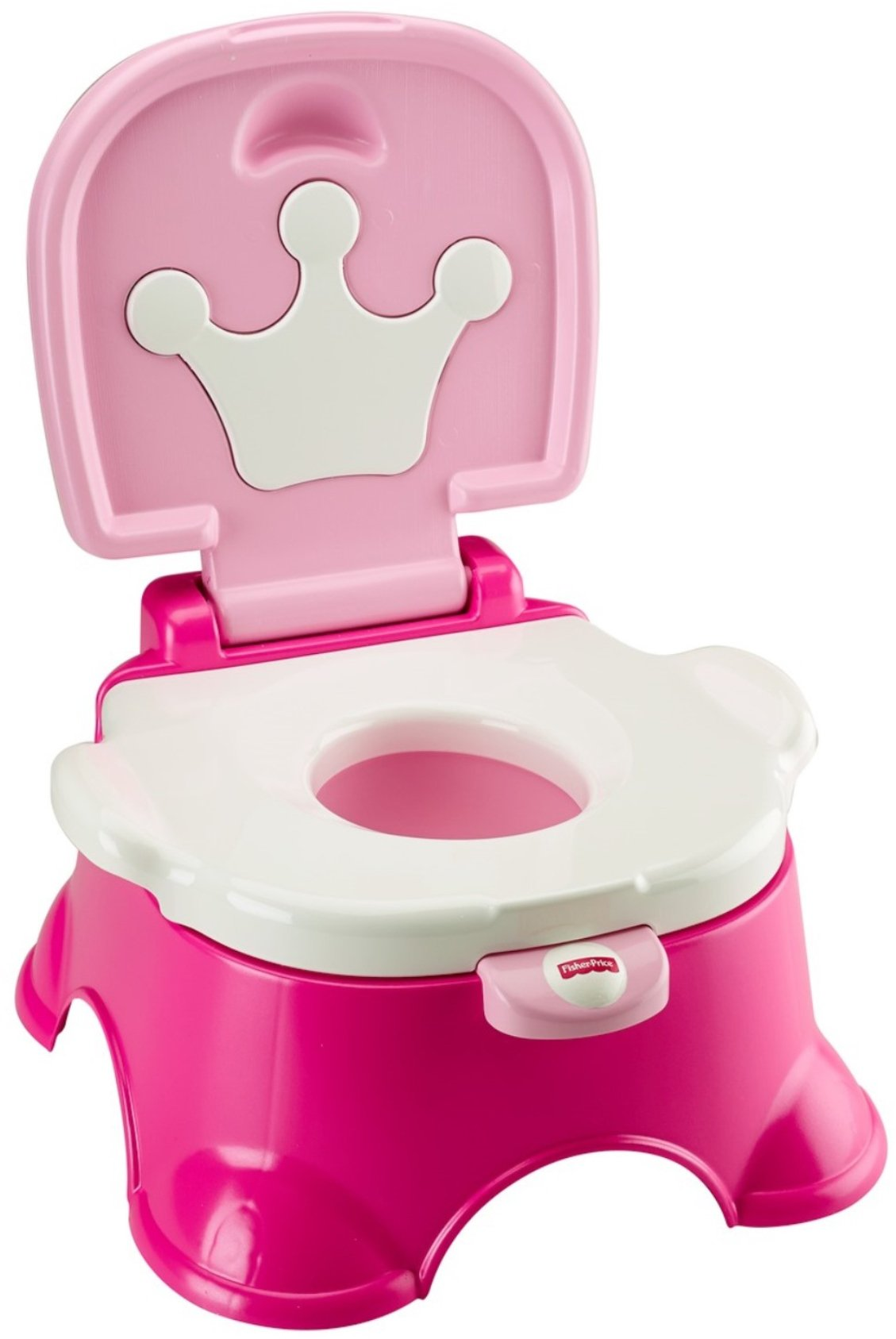 Fisher-Price Stepstool Potty, Pink Princess, Pink/White