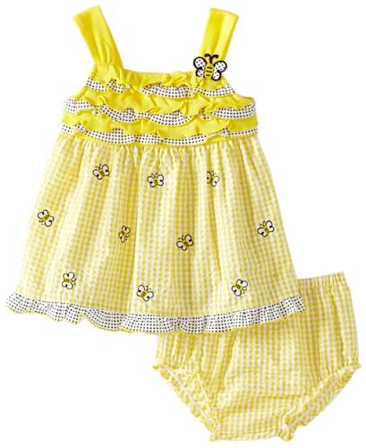 Youngland Baby Girls' Sleeveless Bumble Bee Sundress