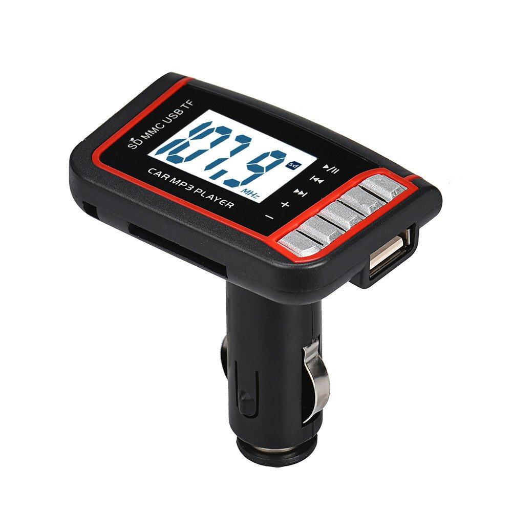 transmisor inal/ámbrico de FM MP4 modulador Cebbay LCD para Coche Reproductor de MP3 Tarjeta SD//MMC con Control Remoto