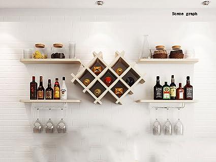 Flashing- Paneles a base de madera Tipo colgante Armario de vino / Portavasos / Soporte