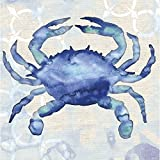 #10: Cypress Home By the Sea Crab Paper Cocktail Napkin, 20 count