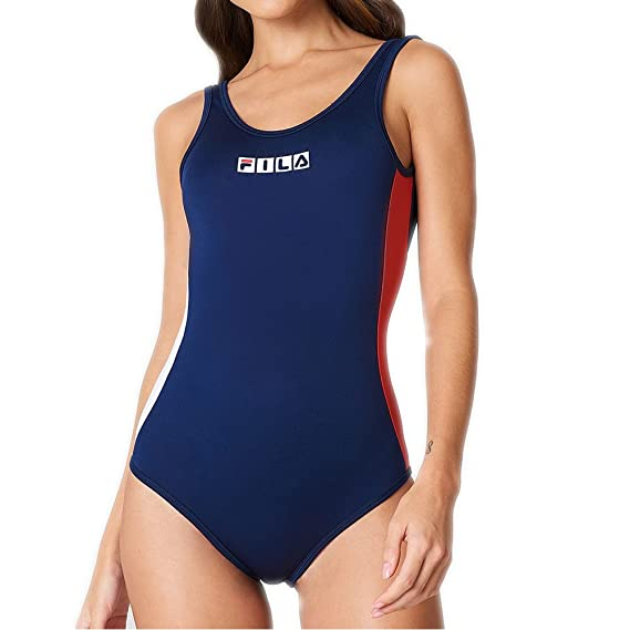 220b43324d Fila Body Suit Cheryl Azul Blanco Rojo Talla  S (Small)  Amazon.co ...
