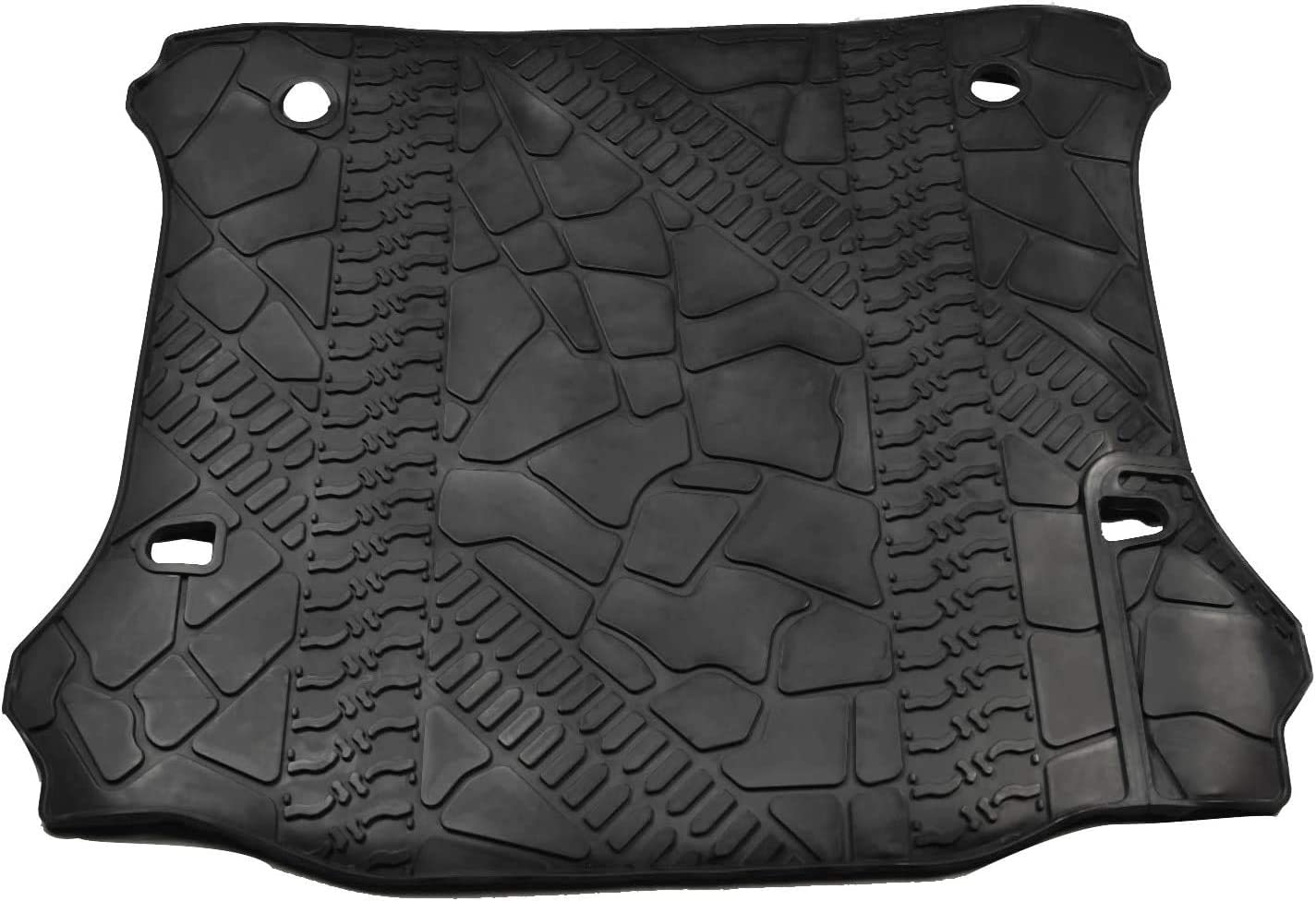 NovelBee Cargo Liner Rear Trunk Floor Mat Fit for 2012-2018 Jeep Wrangler JK Unlimited JKU Without Subwoofer and Only for 4 Door
