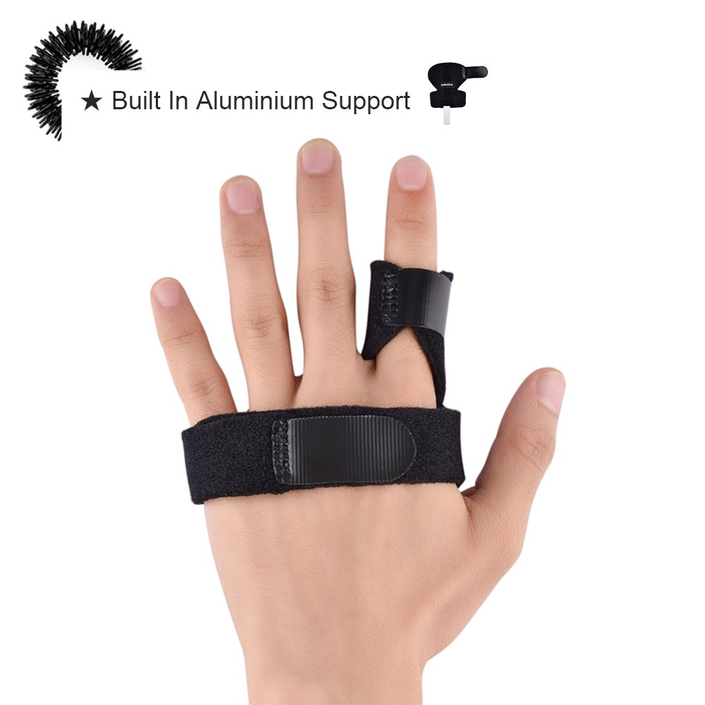 MUMUSAN Finger Extension Splint for Trigger Finger, Acupressure Massage Rings, Pain Relief from Stenosing Tenosynovitis, Finger splints braces For arthritis, Wounds, Malleable Metallic hand splint fin by MUMUSAN (Image #5)
