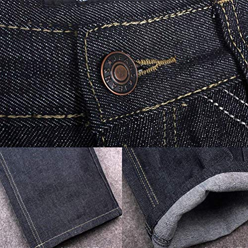 Nero Casual Hip Da Classic Jeans Hop Semplice Urban Stile Denim Larghi Uomo Danza Exquisite Vintage Pantaloni a6w1xSZqWg