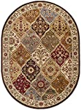 Cheap Cambridge Traditional Abstract Multi-Color Oval Area Rug, 5′ x 7′ Oval