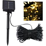 Lampwin Outdoor Solar LED String Lights 2017 New Design 72FT 200LEDs Yellow Fairy LED Starry String Lights for Christmas, Party, Home, Patio, Garden, Holiday, and Wedding
