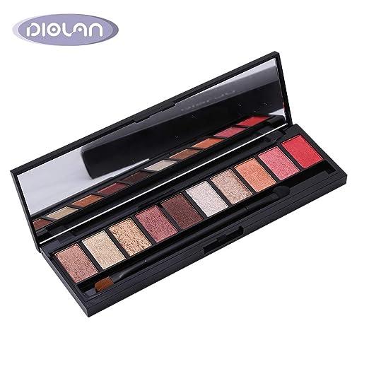 DIOLAN Eyeshadow Palette 10 Colors Highly Pigmented Eye Shadow Palette, Long Lasting Waterproof Colorful Eyeshadows Cosmetics