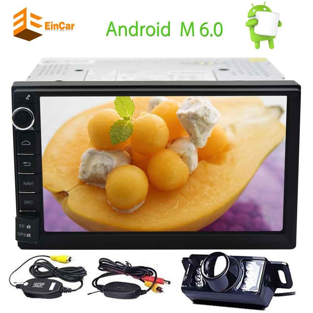 EinCarのAndroid 6.0クアッドコアのカーステレオ7「」HDタッチスクリーンGPSナビゲーションダブル2ディンカーラジオマルチメディアワイヤレスリアカメラ付きPlayerサポート1080P Bluetooth対応のWiFi OBD2 Mirrorlink B077TGQLBH