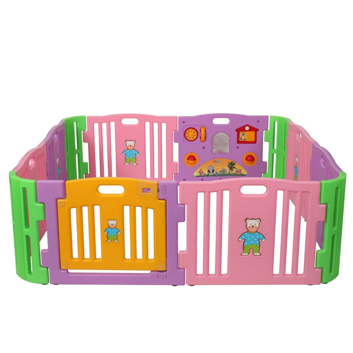 12 Playpen Portable Toddler Baby Outdoor Safety Folding Play Yard Random Indoor