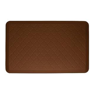 WellnessMats Anti-Fatigue Trellis Motif Kitchen Mat, 36 Inch by 24 Inch, Brown