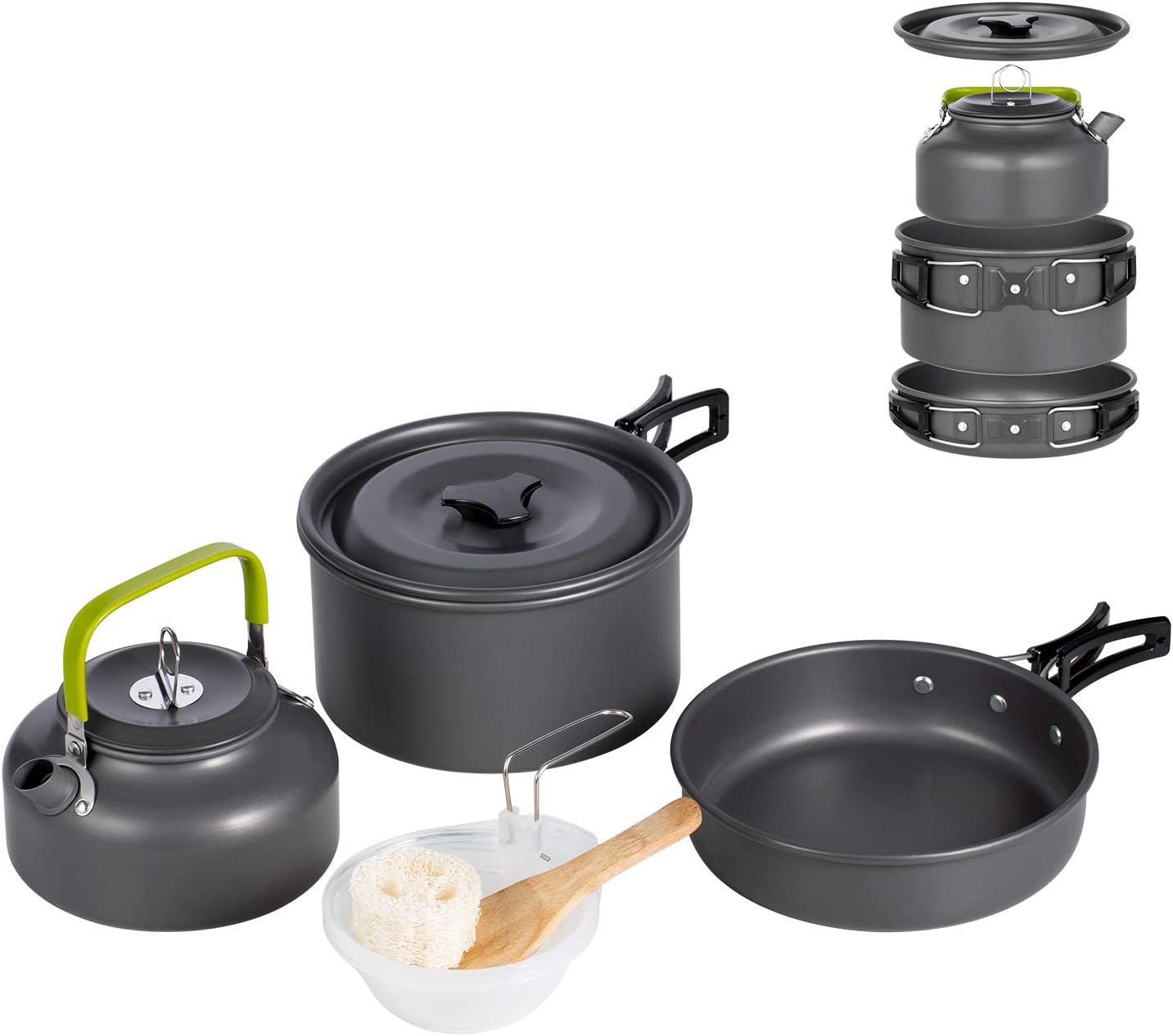 Terra Hiker Camping Cookware Set with Mesh Bag