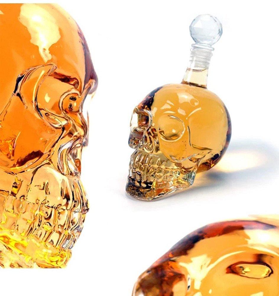 XOCOY Glass Skull Face Decanter Bottles Bottling (500_ML)