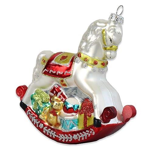 gisela graham classic vintage style christmas tree hanging decoration rocking horse - Horse Christmas Decorations Uk