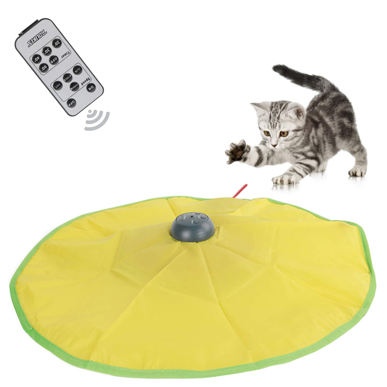 Interactive Cat Toys,Durable Smart Cat Toys with Remote Multiple Timers,Undercover Motorized Mouse Tail for All Ages Cat, Automatic Rotating Catch Training for Indoor Cats (Cat toys V4 Version) by AOLIKES (Image #1)