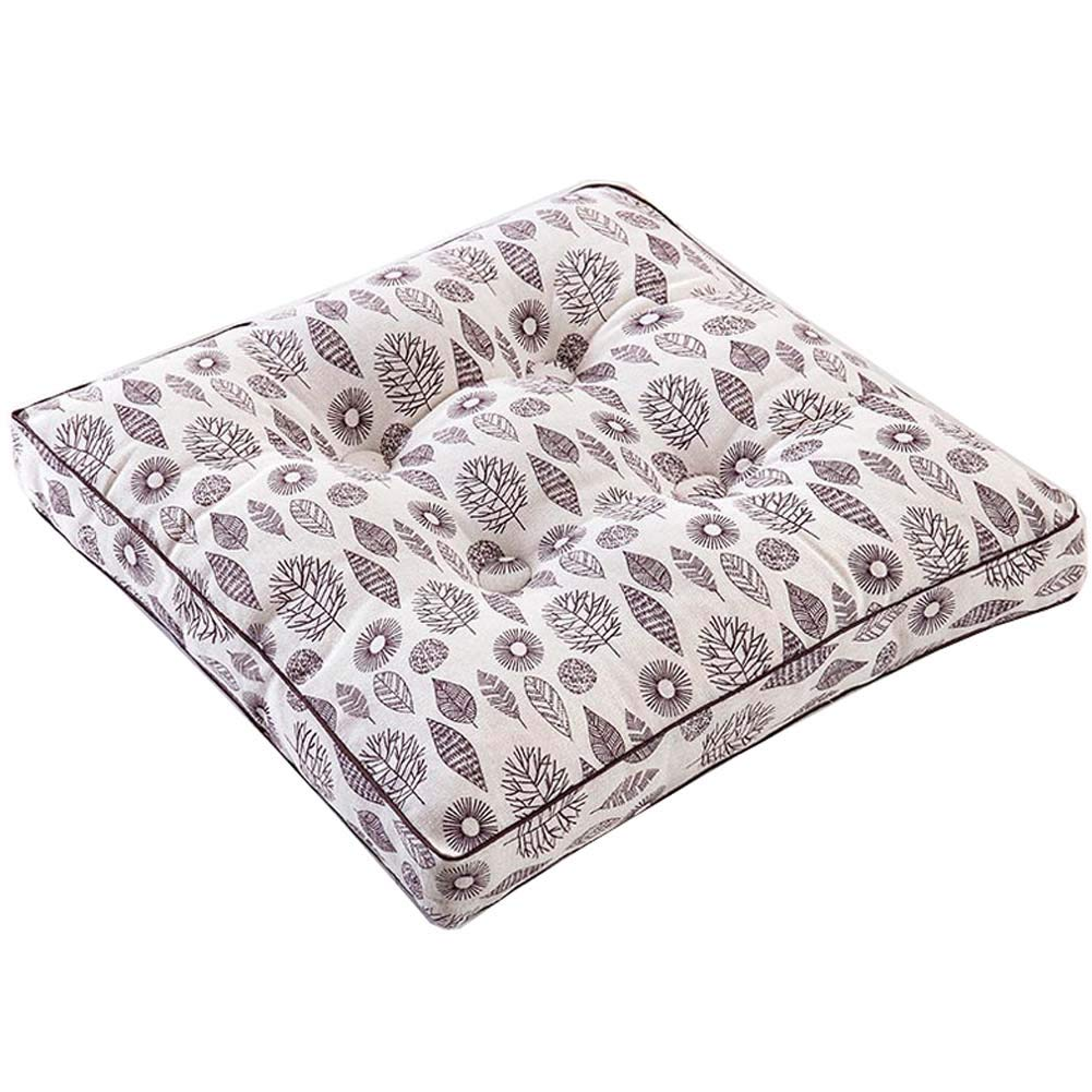 Cotton Square Tatami Mat Floor Pillow Sitting Cushion for Home//Office//Garden E-01