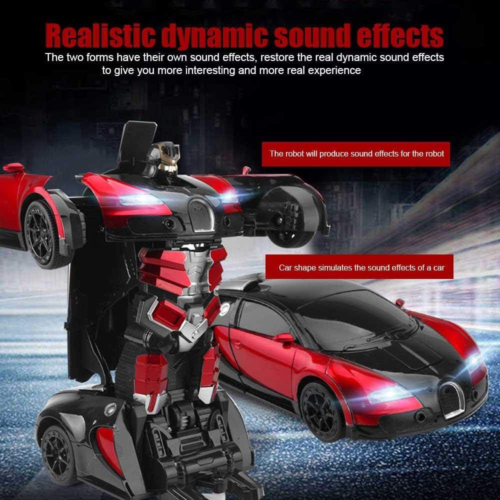 Transformation Voiture Robot,Frein de Noel Auto Geste RC Voiture Stunt Voiture avec Geste Sensing Recharg/é Drift Car,oiture t/él/écommande /à Grande Vitesse avec One-Button Transforming et 360 Speed