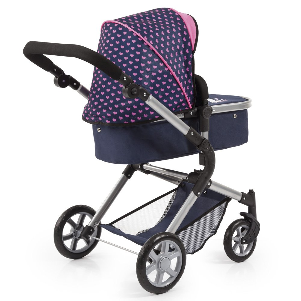 Bayer Design 18154AA City Neo Dolls Pram with Changing Bag, Blue/Pink by Bayer (Image #10)