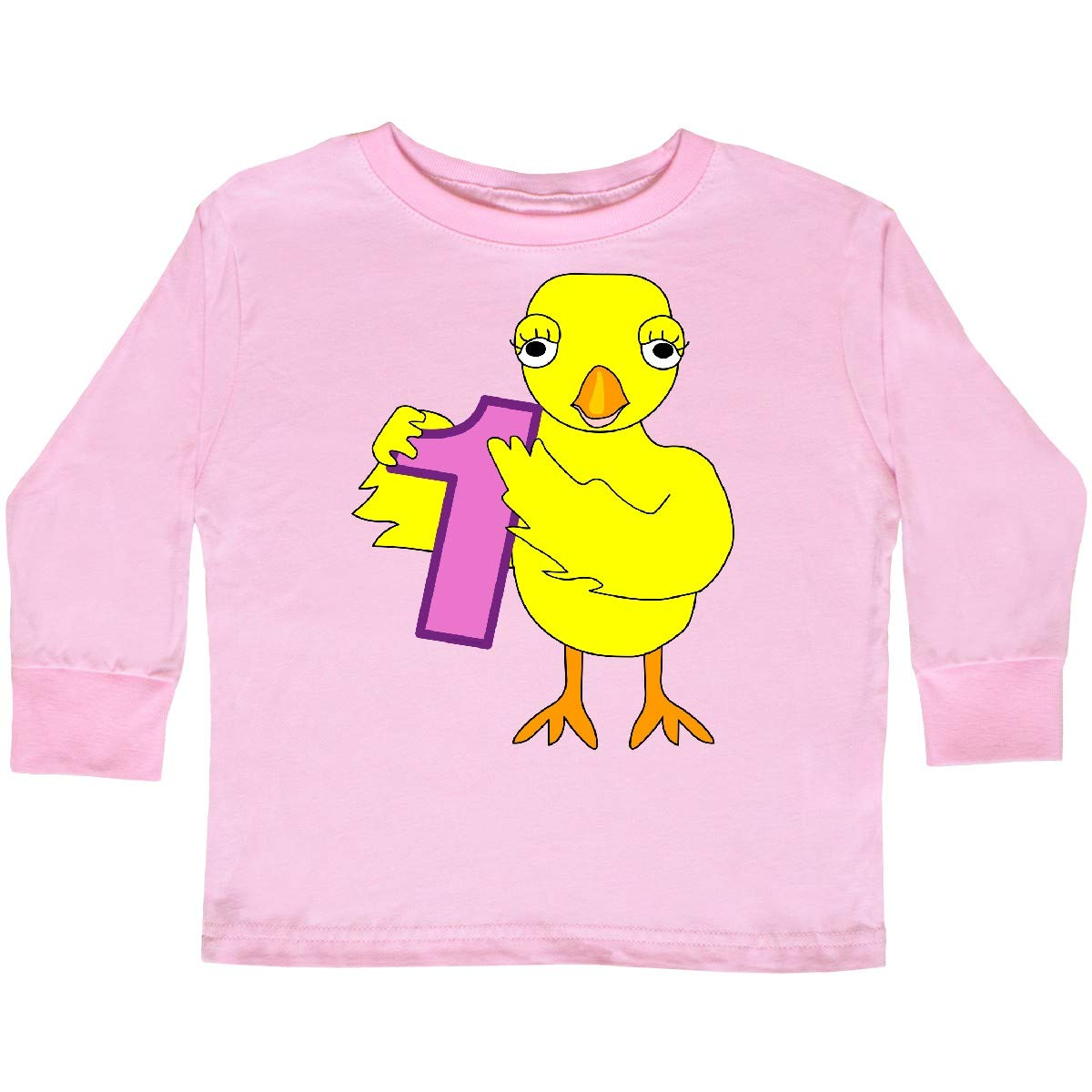 inktastic Number 1 Chick Toddler Long Sleeve T-Shirt