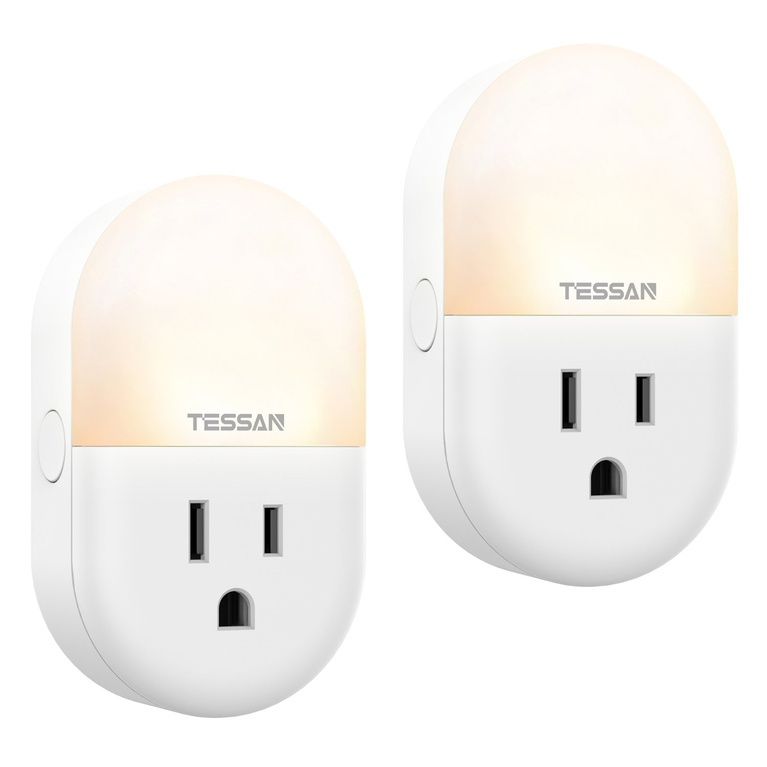 WiFi Smart Plug Alexa Google Outlet Night Light 2 Pack