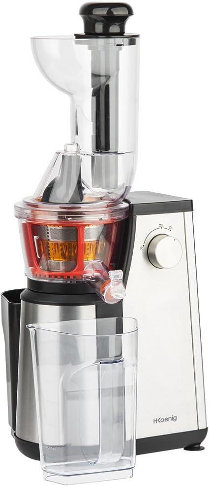 H.Koenig GSX18 - Licuadora para fruta y verdura de prensado en frio, extractor de jugos vertical, 400 W, 1 l .: Amazon.es: Hogar