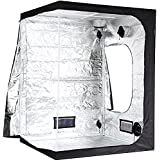 """iPower 60""""x60""""x80"""" Hydroponic Water-Resistant Grow Tent with Removable Floor Tray for Indoor Seedling Plant Growing 5'x5'"""