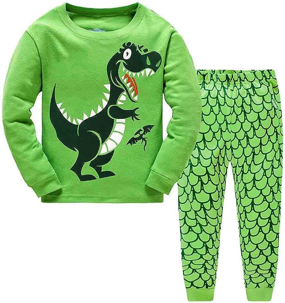 ACUTO Boys Pajamas Sets Dinosaur Cotton Sleepwear Toddler Clothes Little Kids Christmas Pjs 2 Piece Size 2-12 Years