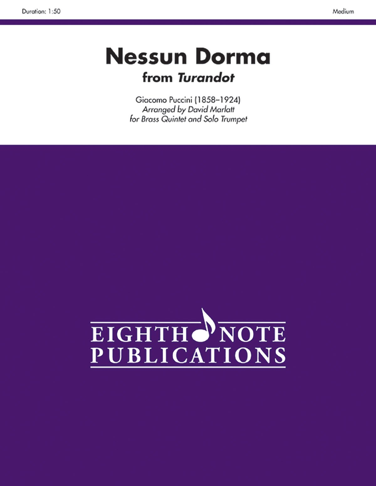 Download Nessun Dorma (from Turandot) (Score & Parts) (Eighth Note Publications) pdf