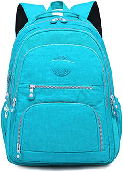 Amazon.com: Women School Backpack for Teenage Girls Laptop Travel Bags,light blue,31CMX14CMX42CM 989: Shoes