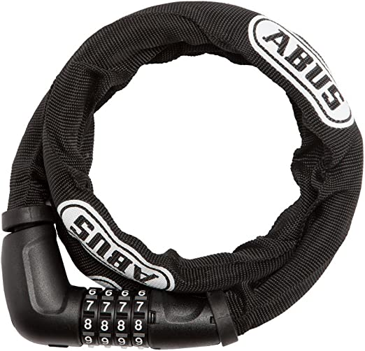 Blk 85cm x 15mm w//Mount ABUS Combination Cable Lock Steel-O-Flex Tresor 6615C