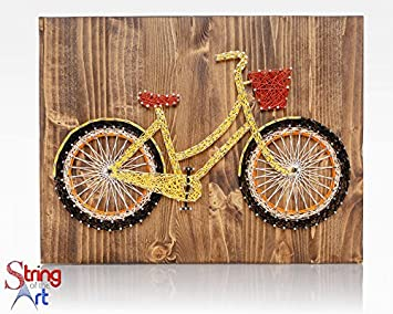 Amazon String Art Diy Kit String Art Bicycle Adult Crafts