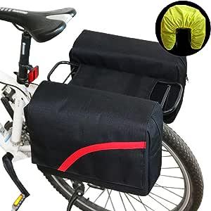 BOLSAS alforja Trasera Bicicleta, Paquete de Doble Estante Trasero ...