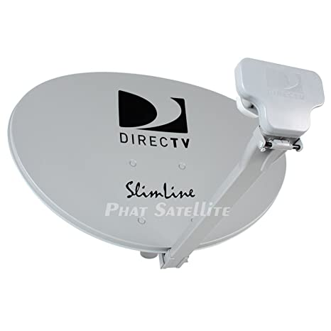 Ready to Install Package : Directv HD Satellite Dish w/ SWM3 LNB + RG6 COAXIAL Cables Included Ka/ku Slim Line Dish Antenna SL3 Single Output W/ 4 ...