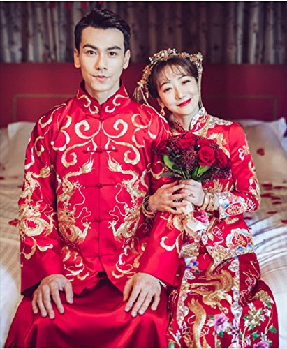 Generic Chen Zi Han costume with new models marry bride dress wedding dress toast clothing Chinese dragon and phoenix gown evening dress for women girl by Generic (Image #9)