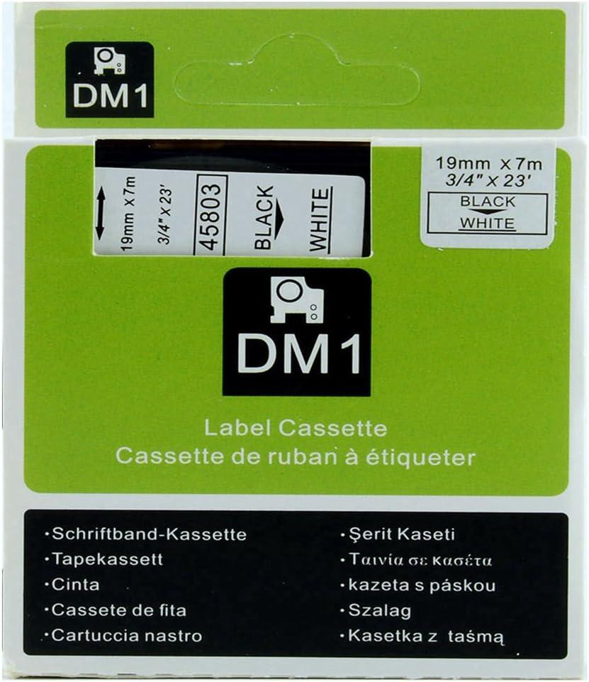 Dymo 45803 D1 Hochleistungs Etikettenband Polyester Abnehmbar 1 9 Cm X 7 6 M Schwarz Auf Weiß Bürobedarf Schreibwaren