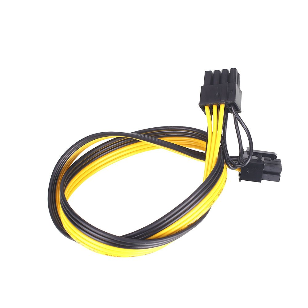 Auntwhale Power Cord Power Extension Cable Mining Machine PSU PCI-Express Male-to-Male