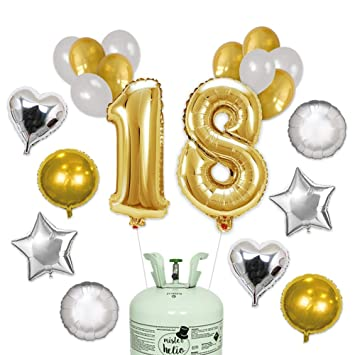 Bombona de Helio Mr. Helio+ Globos Cumpleaños 18 años